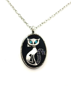 Cat Crystal Necklace - Defiant Jewelry