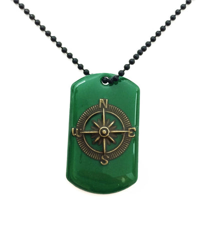 Compass Dog Tag Necklace - Defiant Jewelry
