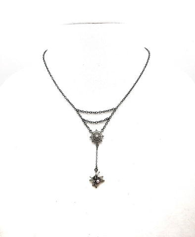 Hanging Spider Necklace - Defiant Jewelry