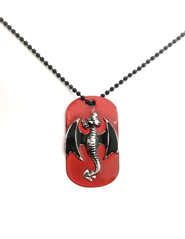 Dragon Dog Tag Necklace - Defiant Jewelry