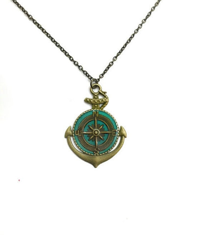Anchor Compass necklace - Defiant Jewelry