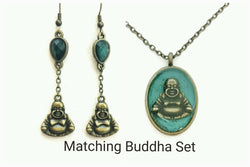 Buddha Earrings and Necklace Set - Defiant Jewelry