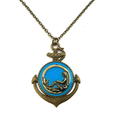 Mermaid Anchor Necklace - Defiant Jewelry