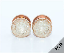 Pearl Crushed Glass Plugs - Defiant Jewelry