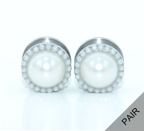 Intricate Pearl Plugs - Defiant Jewelry