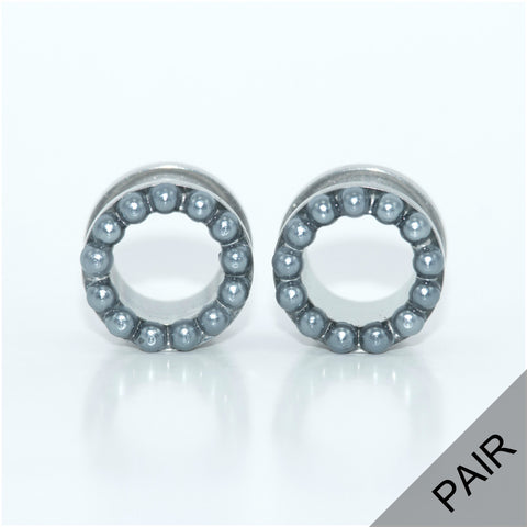 Grey Pearl Plugs - Defiant Jewelry