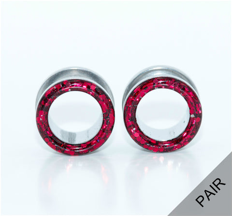 Sparkle Red Plugs - Defiant Jewelry