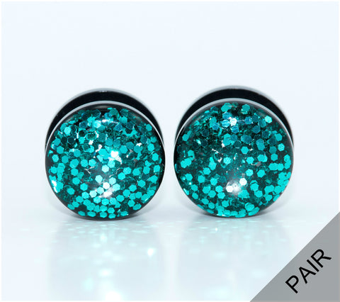 Sparkle Teal Plugs - Defiant Jewelry