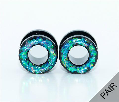 Holographic Tunnel Plugs - Defiant Jewelry