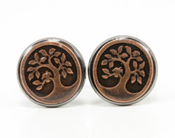 Copper Tree Cufflinks - Defiant Jewelry