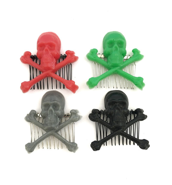 Skull Hair Comb - Defiant Jewelry
