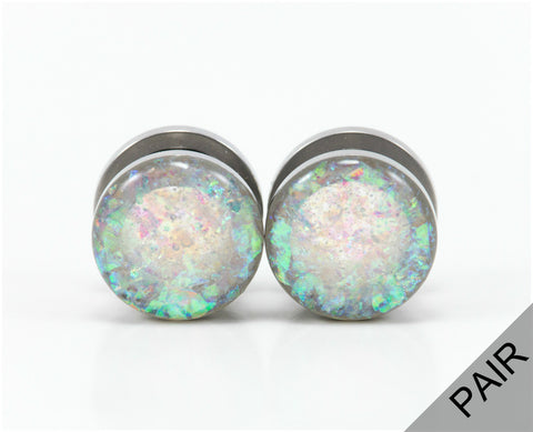 Frosted Holographic Plugs - Defiant Jewelry