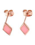 Sweet Pink Shimmer Diamond Earrings