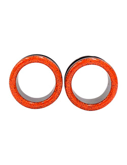 Neon Orange Sand Tunnel Plugs