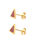 Chameleon Burgundy Blue Shimmer Triangle Earrings