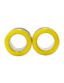 Sunny Yellow Shimmer Tunnel Plugs