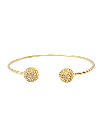 CZ Crystal Round Bangle Bracelet