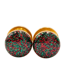Red and Green Christmas Sparkle Plugs