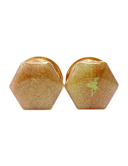 Chameleon Gold Shimmer Hexagon Plugs