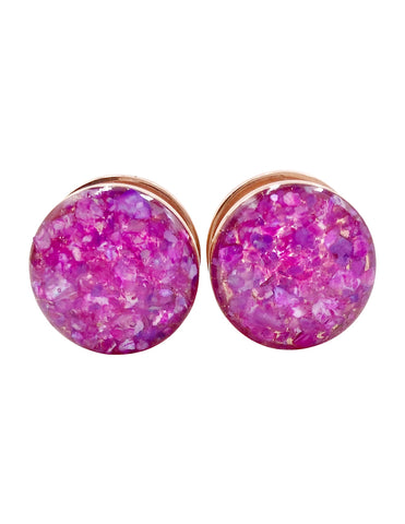 Magenta Crushed Shell Plugs