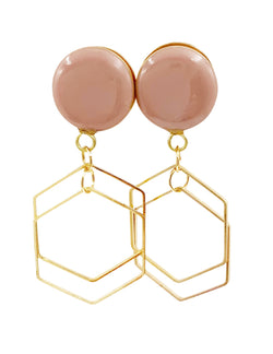 Blush Nude Gloss Hex Geometric Dangle Plugs