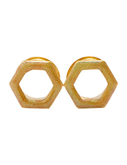 Chameleon Gold Tunnel Hexagon Plugs