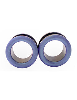 Periwinkle Blue Purple Matte Shimmer Tunnel Plugs