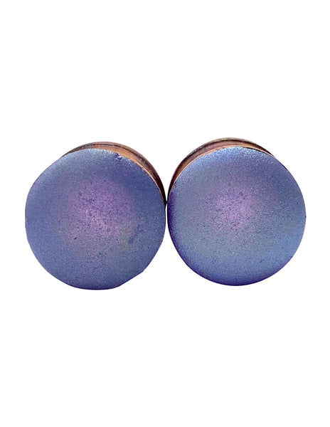Periwinkle Blue Purple Matte Wood Plugs
