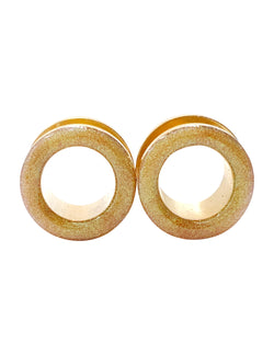 Chameleon Gold Shimmer Tunnel Plugs
