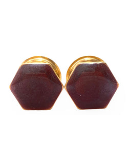 Chameleon Burgundy Shimmer Hexagon Plugs