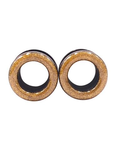 Deep Gold Shimmer Tunnel Plugs