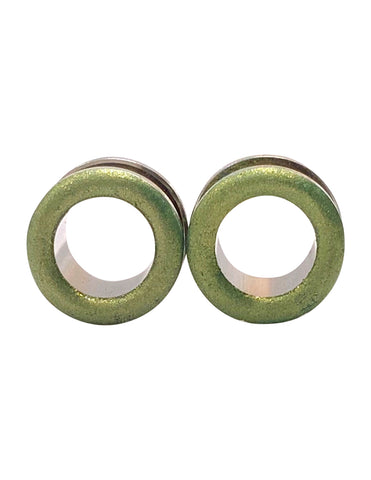 Matte Light Green Shimmer Tunnel Plugs