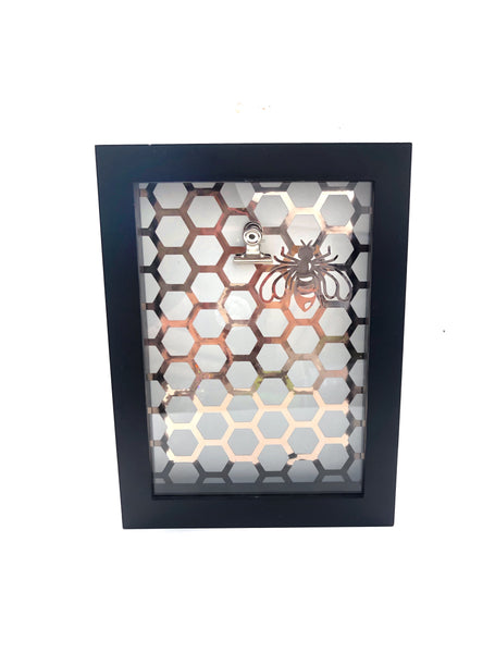 Rose Gold Bee & Hexagon Frame