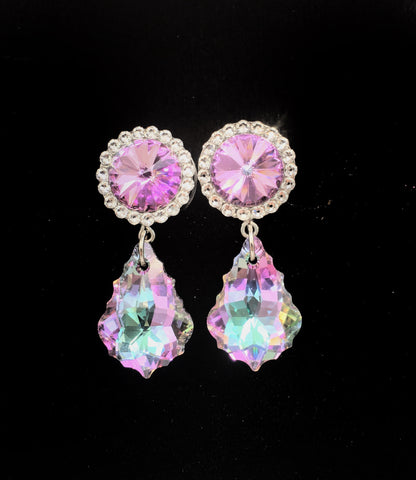 Vitrail Swarovski Crystal Dangle Plugs - Defiant Jewelry