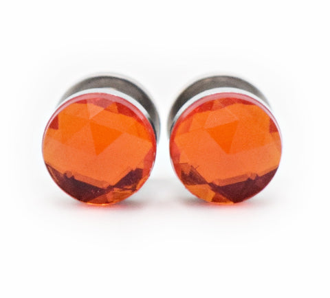 Orange Crystal Plugs - Defiant Jewelry