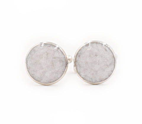 Pearl Crushed Glass Cufflinks - Defiant Jewelry