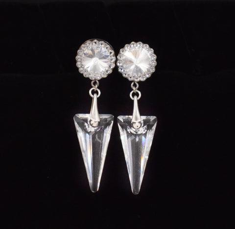 Swarovski Crystal Arrowhead Dangle Plugs - Defiant Jewelry