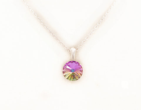 Vitrail Swarovski Crystal Pendant Necklace - Defiant Jewelry