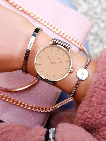 Rose Gold Chain Kensington 40 (Rose/White)