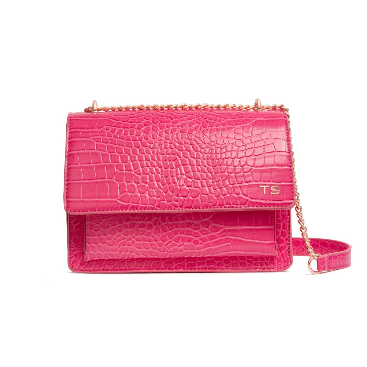 Jasmine Crossbody Bag (Fuchsia Pink/Rose Gold)