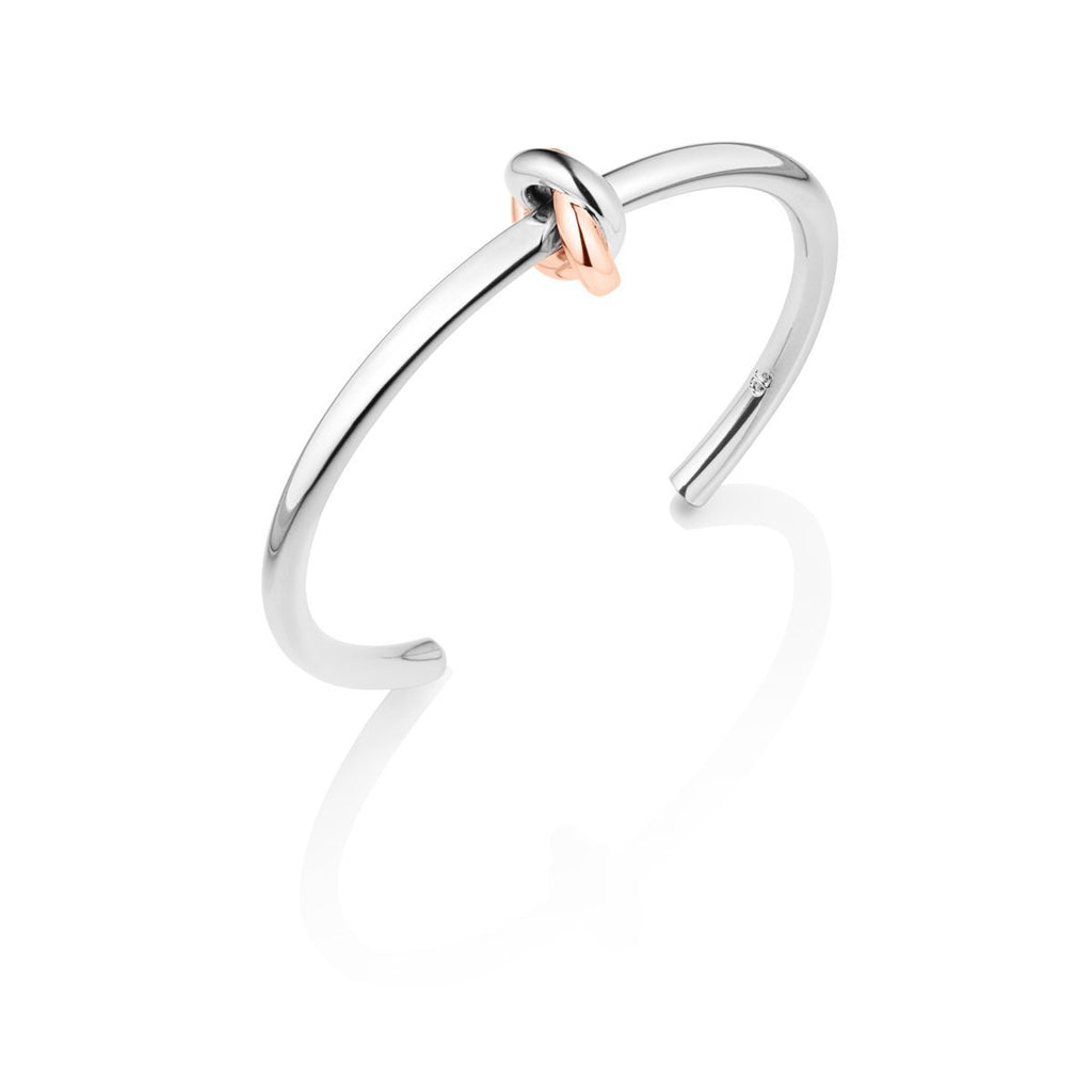 Knot Bangle (Silver/Rose)
