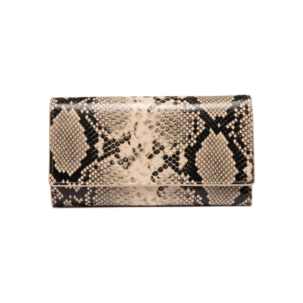 Cream & Black Snakeskin Bella Wallet