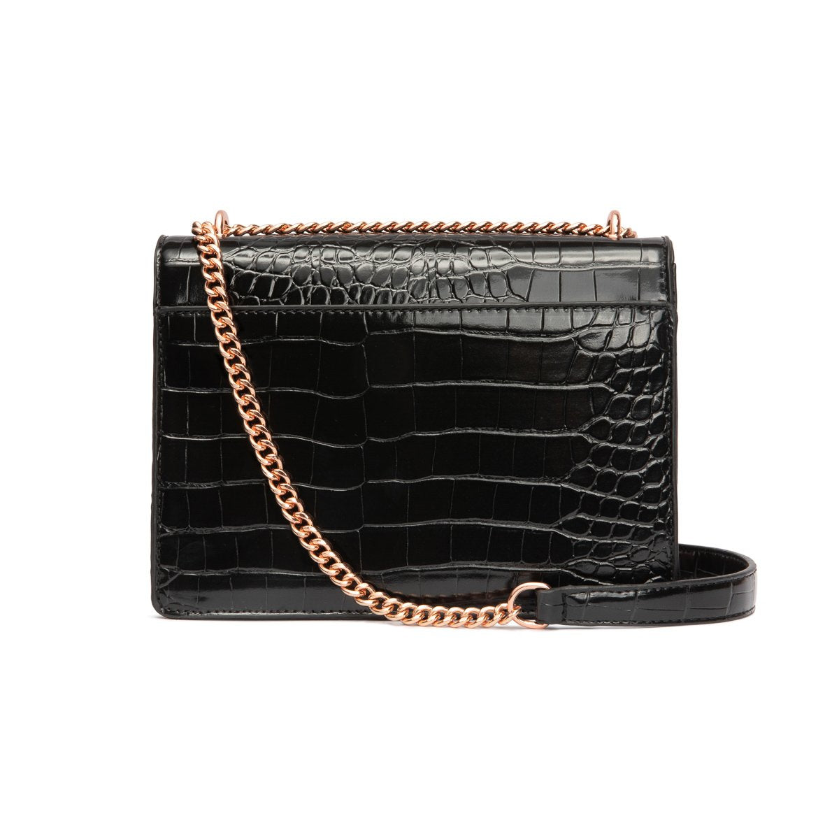 Jasmine Crossbody Bag (Jet Black/Rose Gold)