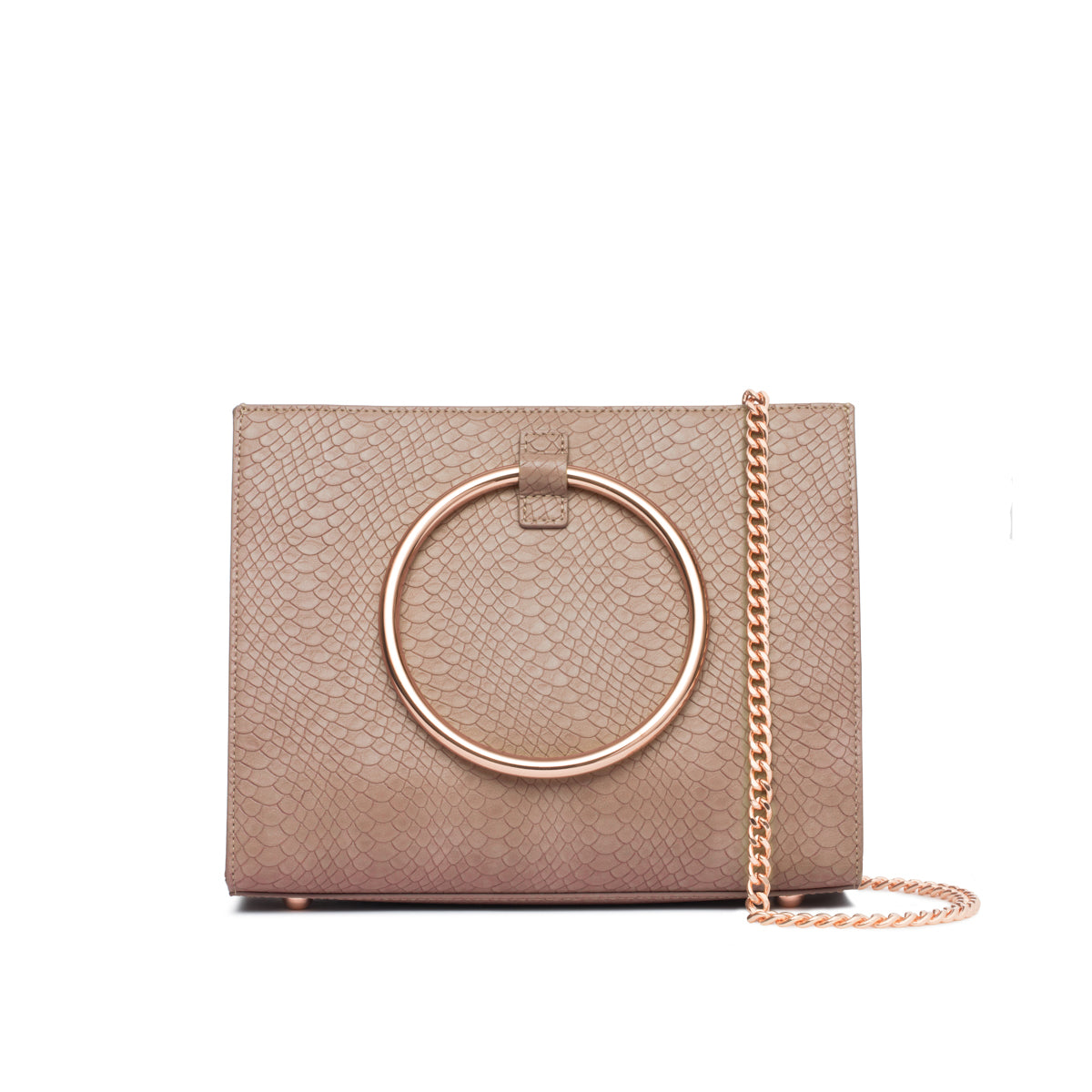Moda Top Handle Bag (Dusky Rose/Rose Gold)