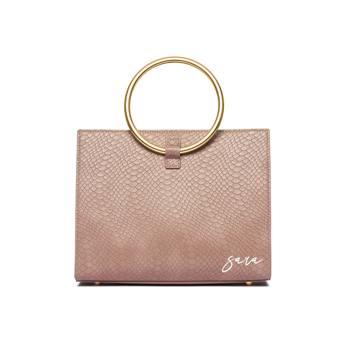 Moda Top Handle Bag (Dusky Rose/Yellow Gold)