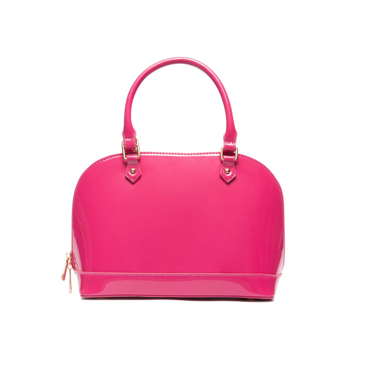 Alexa Top Handle Bag (Fuchsia Pink/Rose Gold)