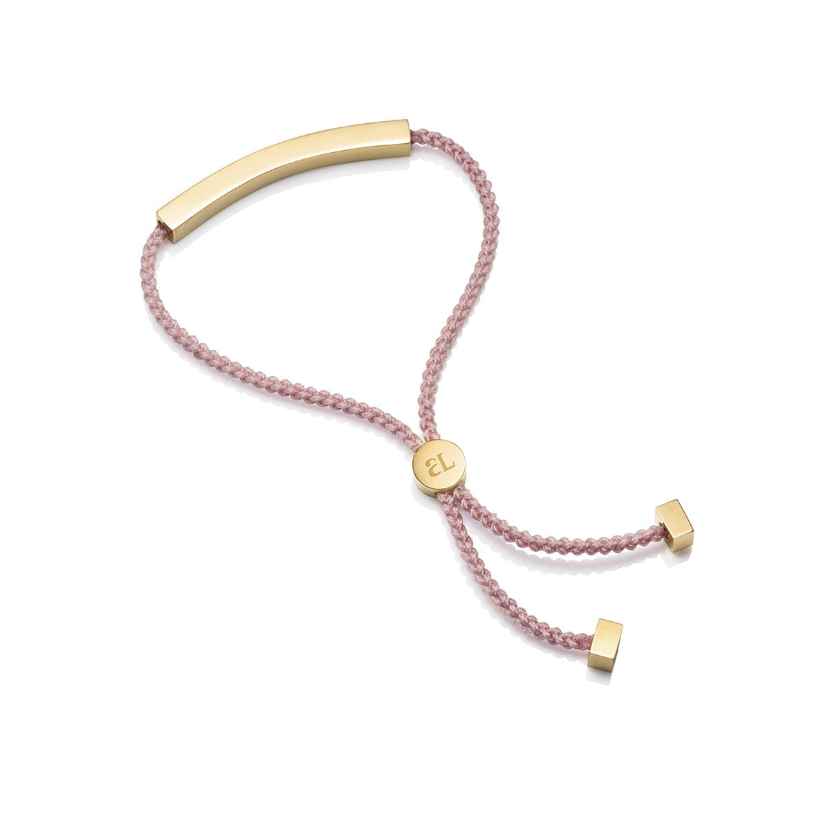 Blush Cord Personalise Bracelet (Yellow Gold)