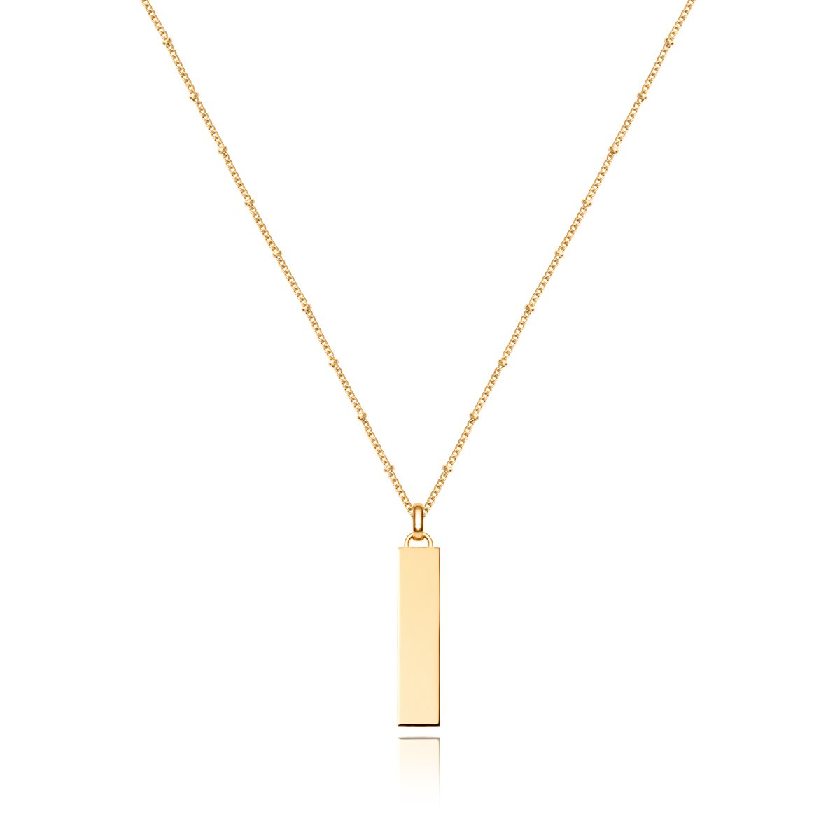 Large Lineare Charm Necklace (Yellow Gold)