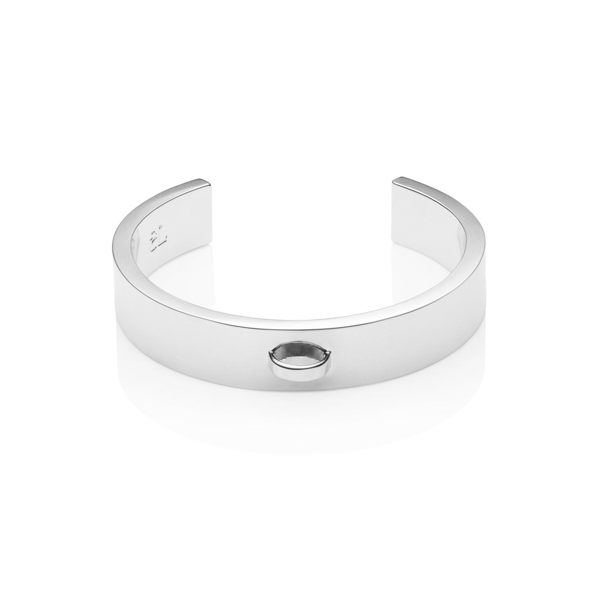 Luna Small Charm Bangle (Silver)