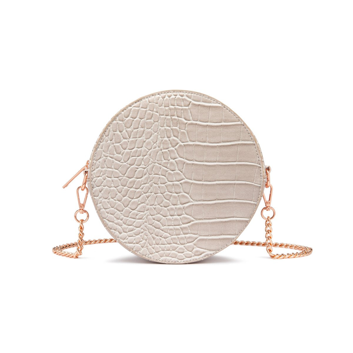 Nina Crossbody Bag (Ash Grey/Rose Gold)